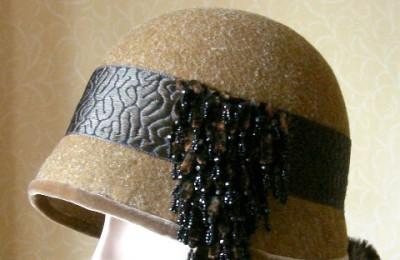 Felt Cloche Hat Amber