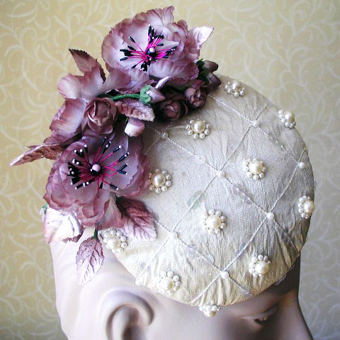Cream Fascinator Annabell Detail