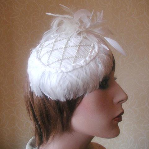 White Fascinator Odette