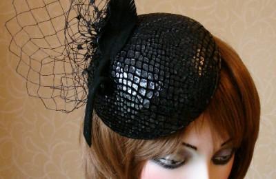 Black Cocktail Hat Zoe