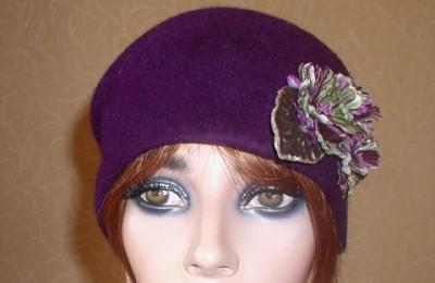 Purple Toque Hat Anna Front