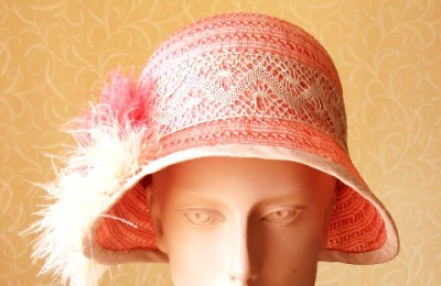 Peach Straw Hat Clarissa
