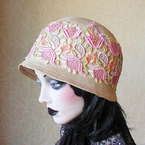 Straw Cloche Hat Emily Side