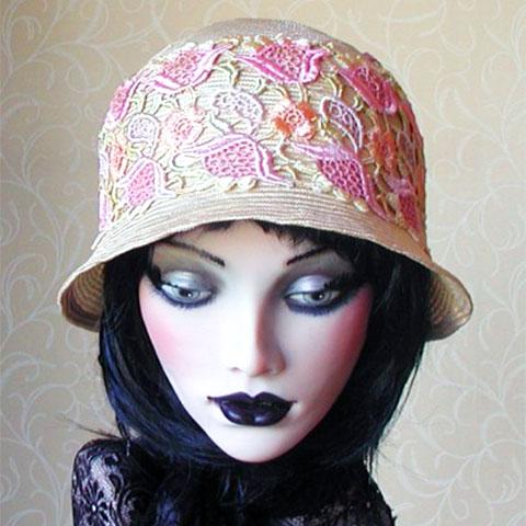 Straw Cloche Hat Emily