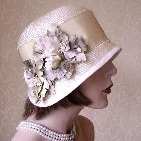 Gold Straw Hat Kelsey Side
