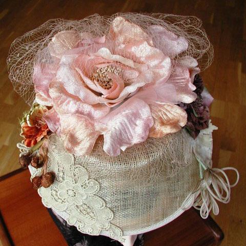 Velvet flower fascinator top