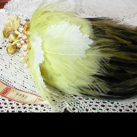 Lemon fascinator top
