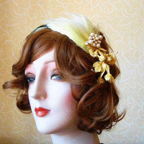 Lemon fascinator