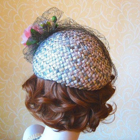 Half Hat Fascinator Back