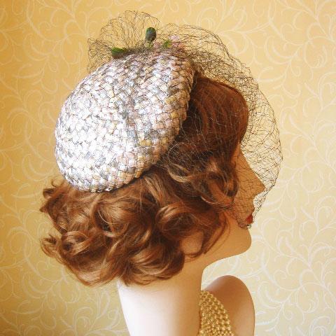 Half Hat Fascinator Side