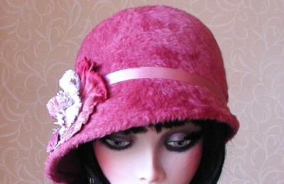 Pink Felt Hat Camille