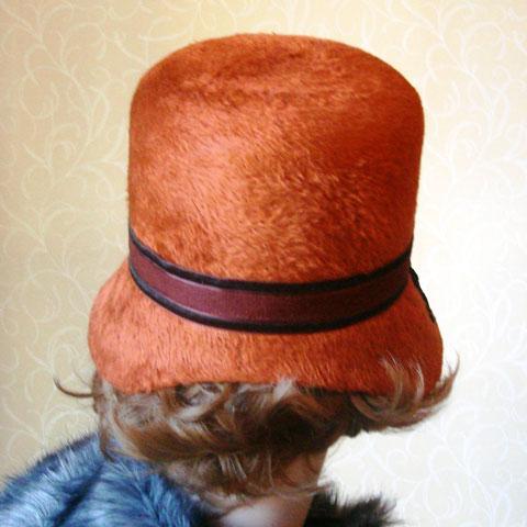 Terracotta felt hat back