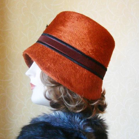 Terracotta felt hat side