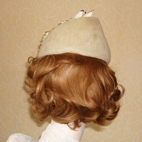 Taupe felt hat back