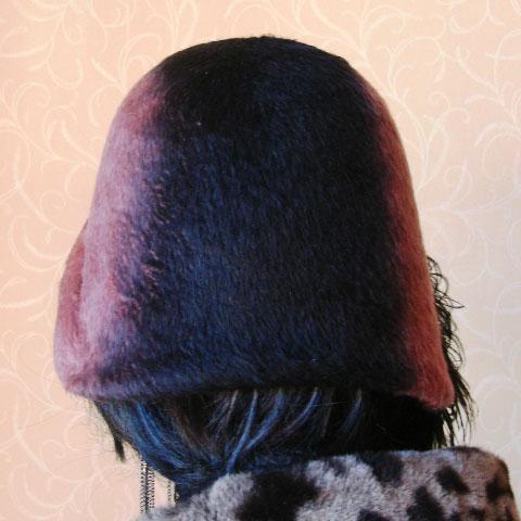 Two tone felt hat back
