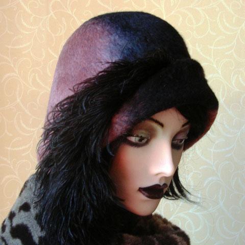 Two tone felt hat