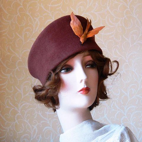 Brown felt hat