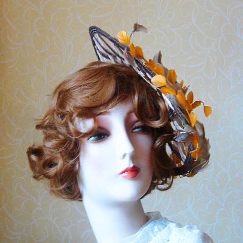 Autumn straw hat front