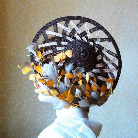 Autumn straw hat side