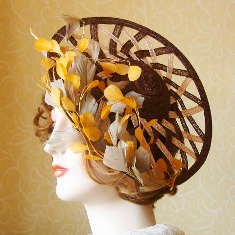 Autumn straw hat